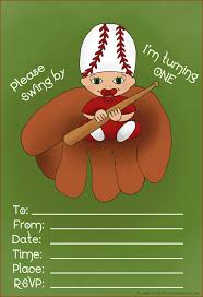 cute sport baseball themed birthday invitation card design with