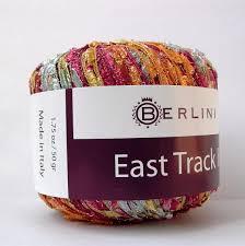 metallic ladder yarn citrus burst berlini italian ribbon
