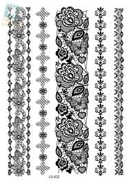 bracelet designs tattoo images Ls622e waterproof women 39 s temporary tattoo stickers white lace jpg