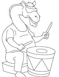 camel the drummer coloring page download free camel the drummer