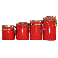 unique kitchen canister sets red canister set for kitchen kenangorgun com