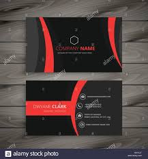dark modern red black business card template vector design stock