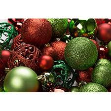 100 and green ornament balls