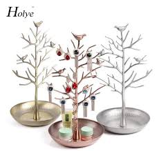 free shipping retro jewelry bird tree stand display