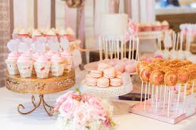 baby shower treats pink baby shower dessert table cakegoodness pink baby