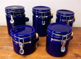 blue kitchen canisters blue kitchen canister sets size of canisters cobalt blue