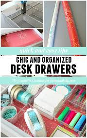 Organizing Desk Drawers Remodelaholic Tricks For Organizing Desk Drawers