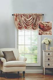 better homes and gardens roses waterfall valance walmart com