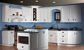 Blue Kitchens by Luxury Maple Kitchen Cabinets And Blue Wall Color
