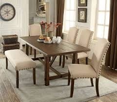 Bench Style Dining Table Sets 6 Pc Brentford Collection