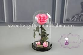 Glass Rose Top Quality Natural Wholesales Preserved Rose Flower In Glass For