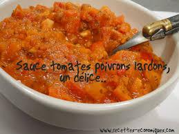 cuisine pates pâtes sauce poivrons tomates lardons recettes de cuisine avec