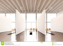 photo exposition space modern gallery blank white empty canvas