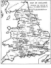 Counties In England Map by Medieval Britain General Maps