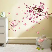 wall ideas cherry blossom wall decor cherry blossom tree wall baby nursery wall decals for nursery girl cherry blossom tree monkey design 3d butterfly wall sticker