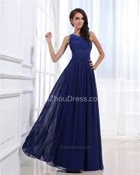 royal blue one shoulder chiffon prom dresses 2017 a line floor