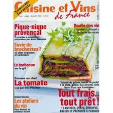 magazine cuisine et vins et vins de n 134 tout frais tout prêt pique nique