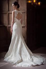 wedding dresses cheap uk sleeveless keyhole back v neck mermaid lace wedding