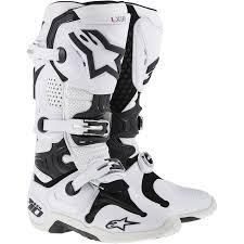 white motocross boots 2018 alpinestars tech 10 mx motocross boots super white dirtbikebitz