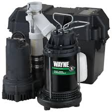 Home Depot Water Pump Wayne 1 2 Hp Battery Backup Sump Pump System Wss30v The Home Depot