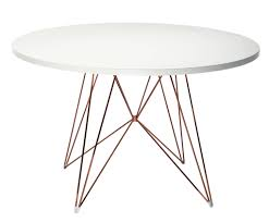 White Circle Table by