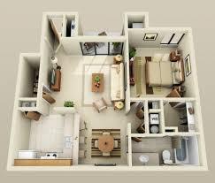 appartement 1 chambre 50 plans en 3d d appartement avec 1 chambres 3d plans et appartements