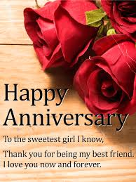 happy anniversary cards to the sweetest girl happy anniversary card birthday