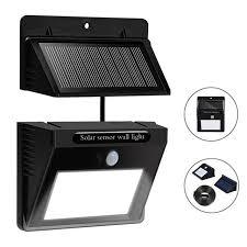 solar powered sensor security light 10x outdoor solar lights separable solar panel waterproof motion