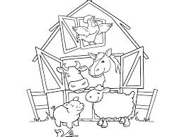 printable animal coloring pages farm pictures to print animal