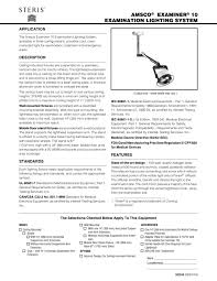 amsco examiner 10 examination lighting system steris pdf