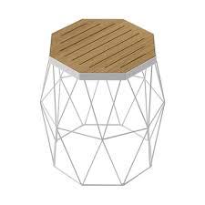 white modern side table modern contemporary oak side table stool white steel wire base