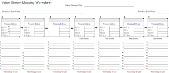 Process Map Template Excel Vsm Template For Microsoft Excel