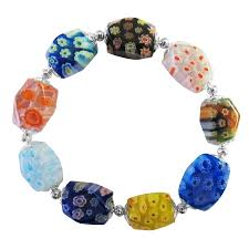 bracelet murano images Comfortable stretchable bracelet millefiori murano glass bead bracelet jpg