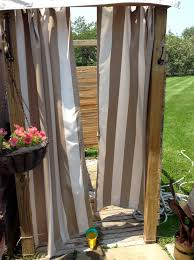 Outdoor Shower Ideas by Outdoor Shower Curtain For Camper Home Design Ideas
