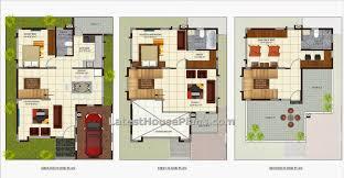 villa home plans three bedroom luxury villa house plan in area of sq italian bedrooms