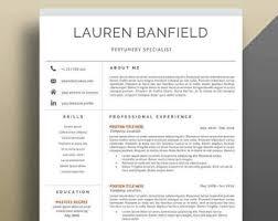 cv format professional resume template modern cv template instant download word