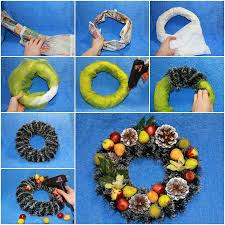 front door decoration ideas felt wreath