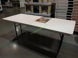 Lifetime 6 Folding Table Lifetime 6 Fold In Half Table 80264 Costcochaser