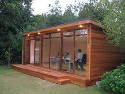 wood clad garden room awesome outdoor office ideas could also