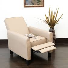 rustic small leather club chair in light brown decofurnish
