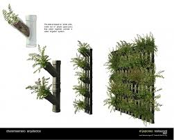 Wall Gardening System by The Idea Is Based On Small Pots Made Out Of Plastic Pipes Pvc