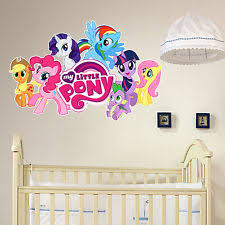 My Little Pony Bedroom Children U0027s My Little Pony Wall Decals And Stickers Ebay