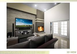 interior fireplace designs with tv above stone mounted living room