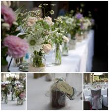 wedding flowers jam jars outdoor ceremony archives for flowers