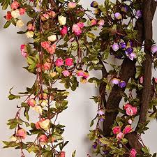 Artificial Flower Decorations For Home Garlands Flowers Decorations Amazon Com