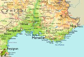 Montpellier France Map by South Of France Map World Map