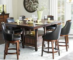 homelegance bayshore 7 piece counter height table set w storage