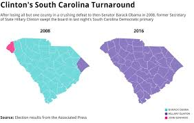State Map Of South Carolina by These Maps Of South Carolina Show How Closely Clinton 2016 Matches