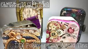 christmas gift idea polymer clay covered altoid tins get ideas