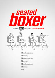 Exercise Chair As Seen On Tv Cardio Chair Workout Get Fit Darebee Neila Rey Pinterest